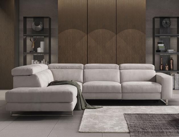 Arrezzo Italian Left Corner Leather Sofa - SOFAITALIA